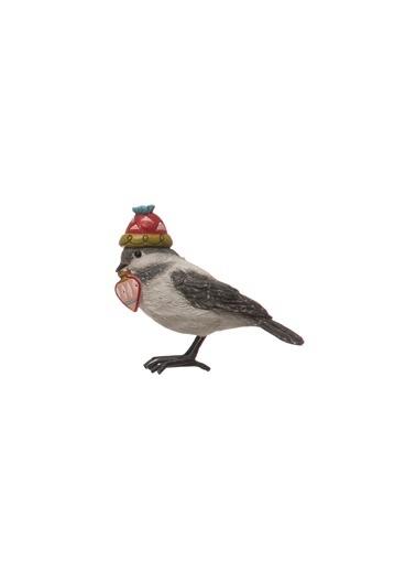 Warm Design Dekoratif Kışlık Şapkalı Kuş Renkli